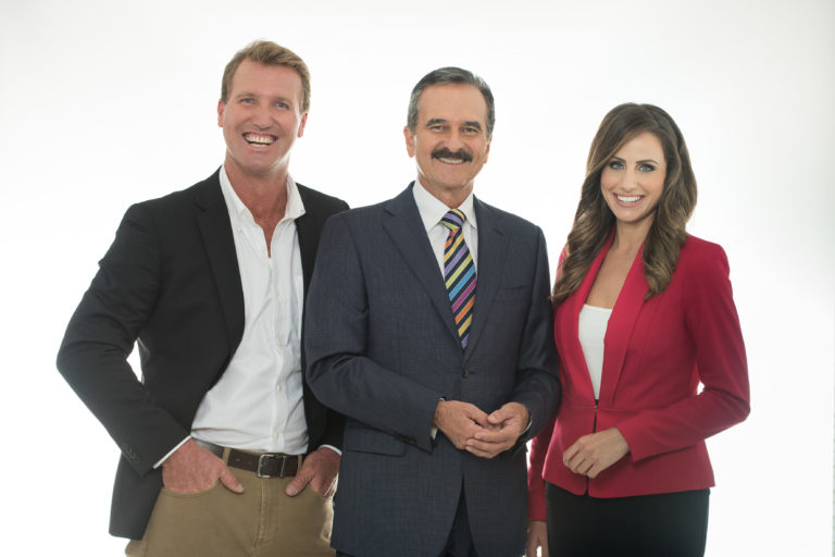 Paul Burt, Rod Young and Amanda Abate image source - Seven Network