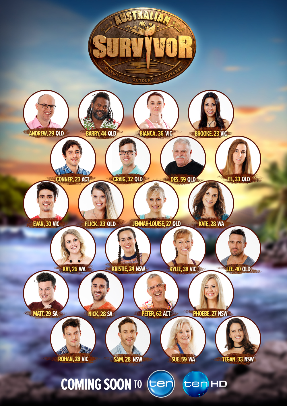 The cast of Survivor Australia  (click to enlarge) Image - Ten