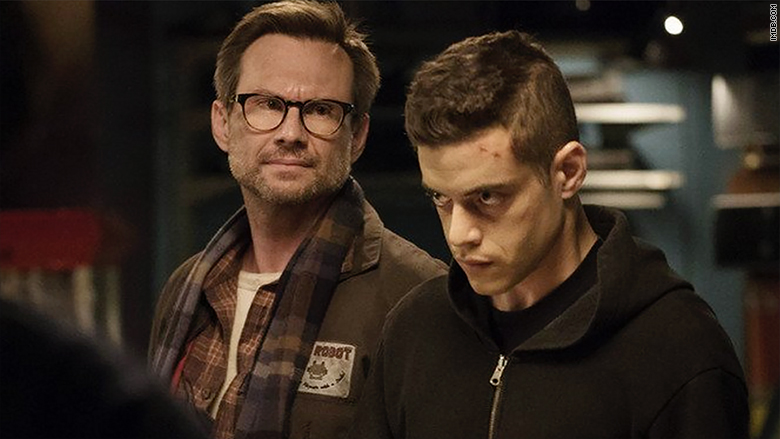 Christian Slater & Rami Malek - Mr Robot  Image - USA Networks