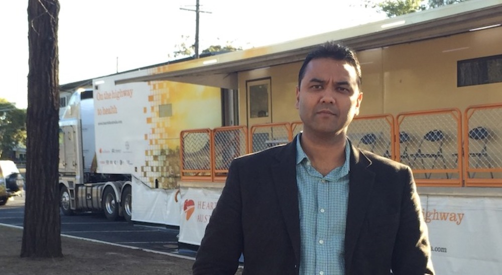Dr Rolf Gomes and the Heart Bus image - supplied/ABCTV