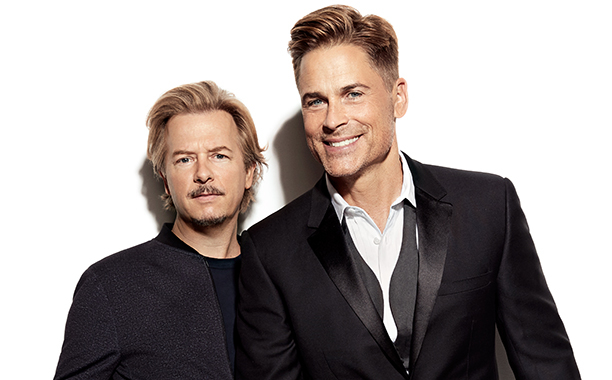 Roast Master David Spade with Rob Lowe image - comedy central