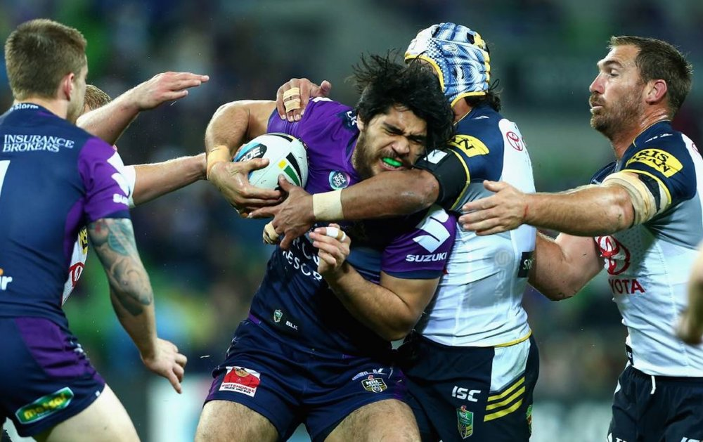 Melbourne Storm vs North Queensland Cowboys - Saturday night on Nine. image source - News Corp