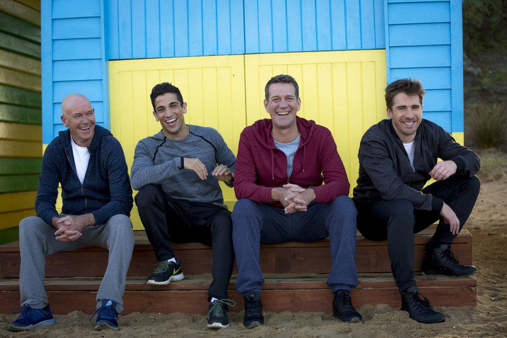 Gary Sweet, Firass Dirani, Rhys Muldoon return with Hugh Sheridan in HOUSE HUSBANDS Image - Nine