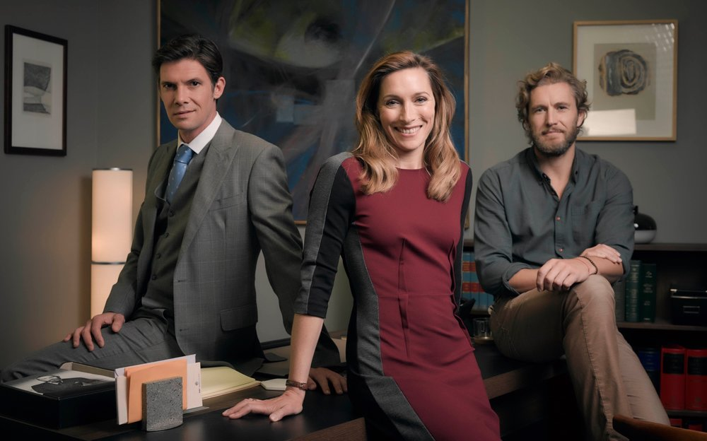 Lewis (Toby Schmitz), Josephine (Claudia Karvan) and Callum (Brett Tucker)  image - ABCTV