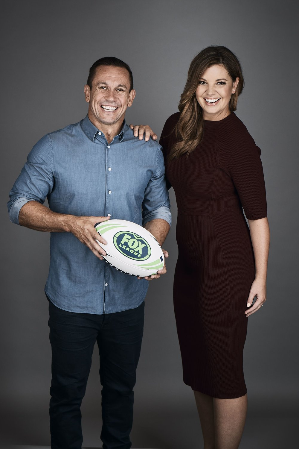Yvonne Sampson and Matty Johns. image - supplied/Fox Sports