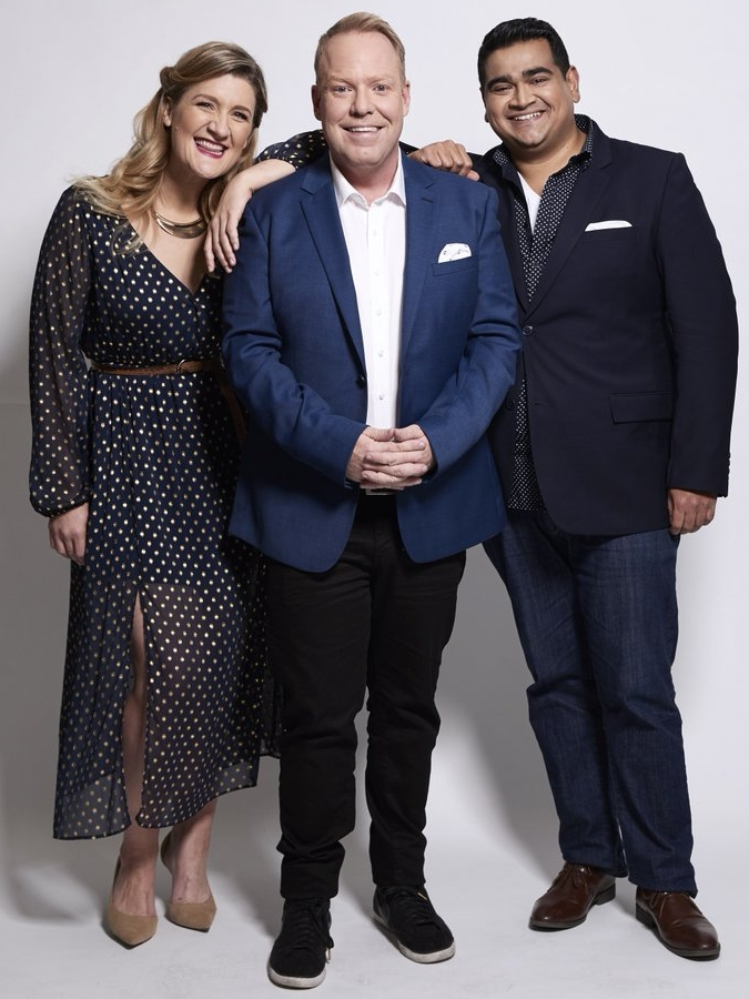 Pete Helliar (centre) with Virginia Gay and Dilruk Jayasinha   image - TEN
