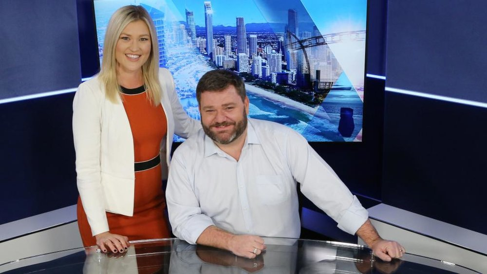 Johanna Marie and Paul Murray in the Sky News Southport studio.   image copyright: News Corp Picture: Glenn Hampson