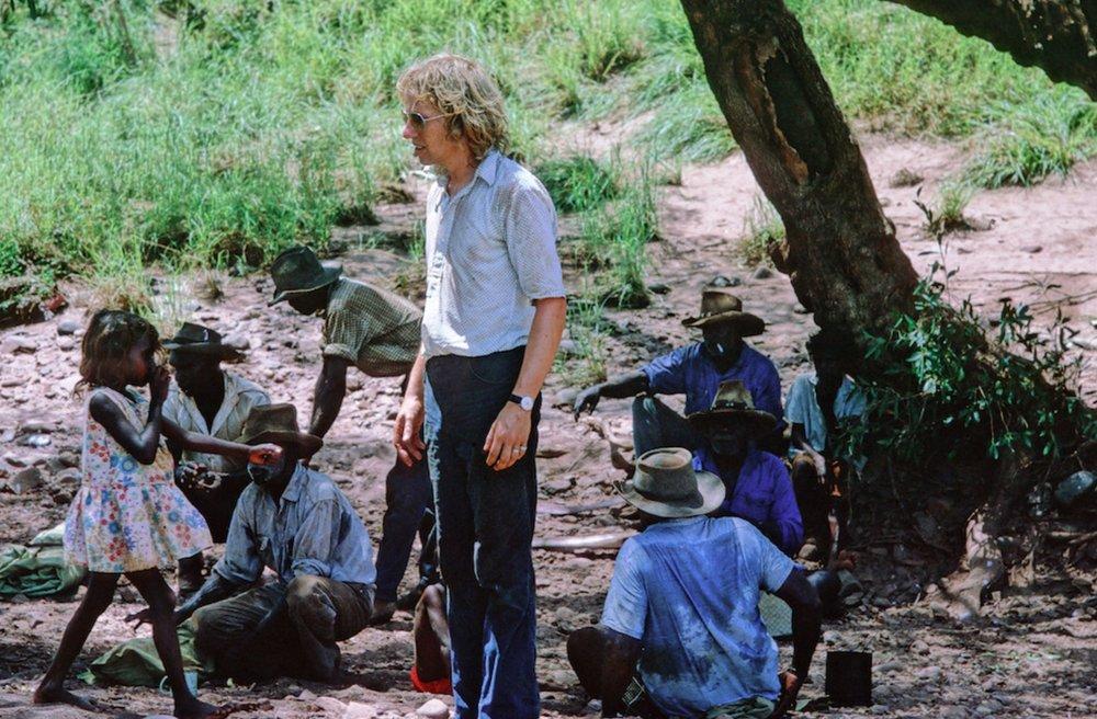 Filmmaker John Goldschmidt during the making of the film   image - ABC