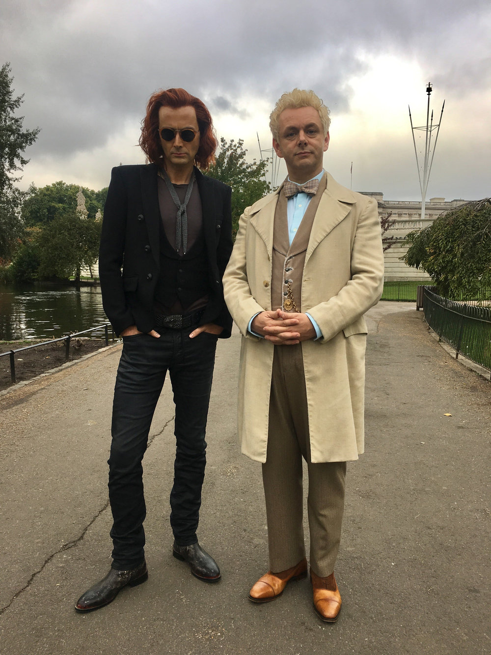 David Tennant & Michael Sheen Image - Neil Gaiman