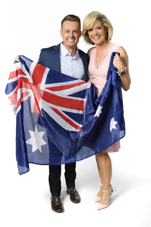 Grant Denyer & Sandra Sully  Image - Ten