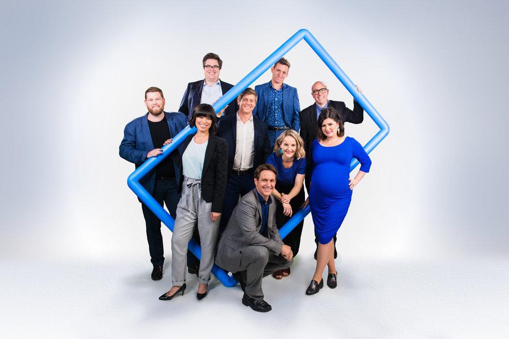 The Checkout team for S06: Mark Sutton, David Cunningham, Alex Lee, Scott Abbot, Craig Reucassel, Ben Jenkins, Kirsten Drysdale, Julian Morrow and Zoë Norton Lodge Image - ABC