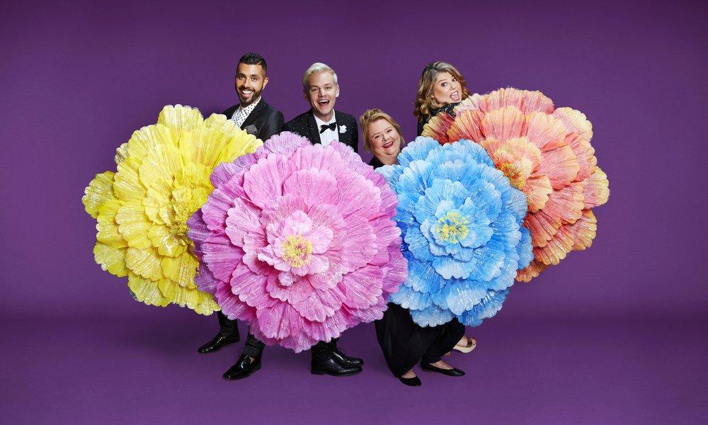 Patrick Abboud, Joel Creasey, Magda Szubanski & Urzila Carlson  Image - SBS