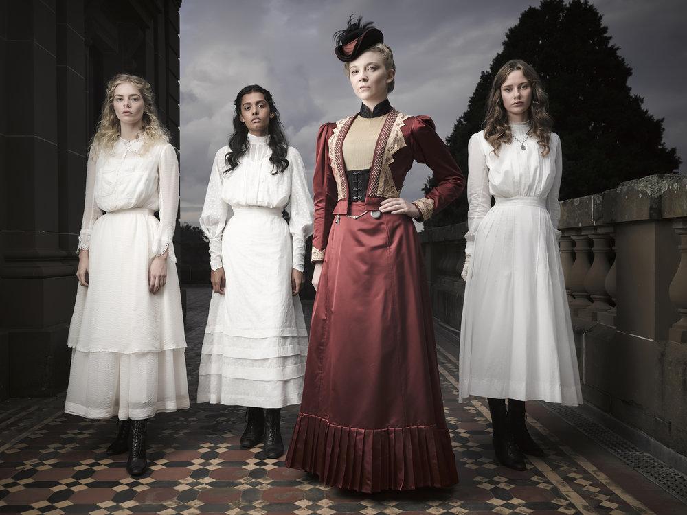 Samara Weaving, Madeleine Madden, Natalie Dormer, Lily Sullivan  Image - Foxtel