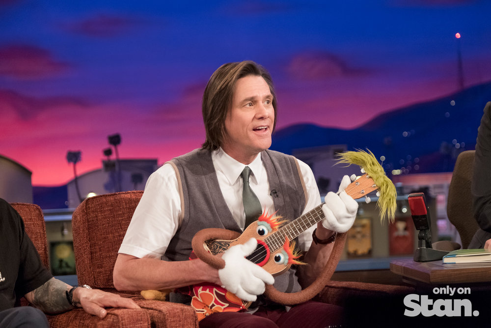 Jim Carrey is Mr Pickles in KIDDING  Image - Stan