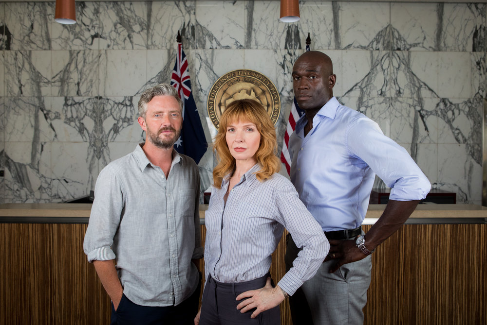 Stephen Curry, Jacqueline McKenzie, Steve Toussaint star in PINE GAP  Image - ABC