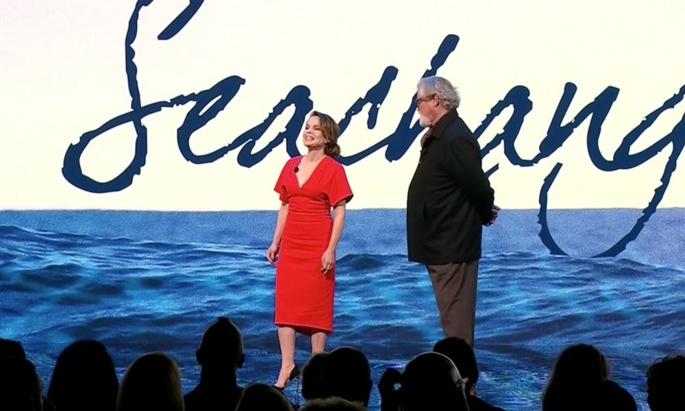Sigrid Thornton and John Howard announcing the return of SeaChange at 9Upfront