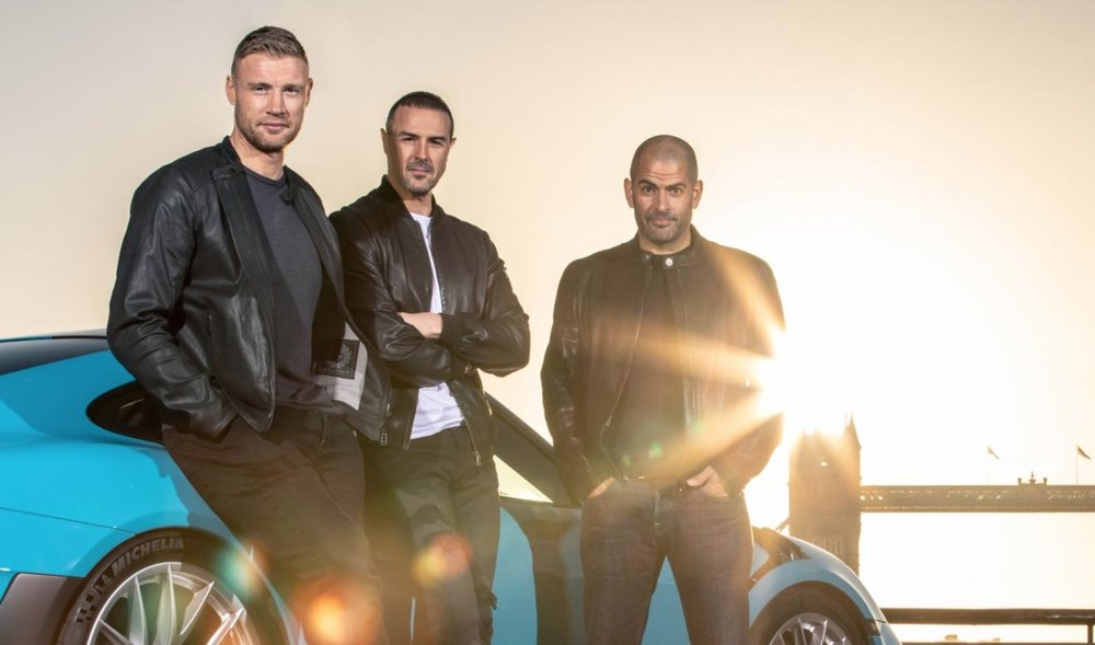 Freddie Flintoff, Paddy McGuinness and Chris Harris  image - BBC