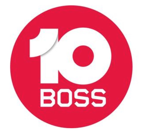 A third version of the 10 Boss logo which is currently being used.