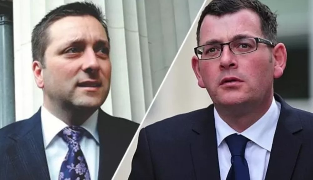 Opposition Leader Matthew Guy and Victorian Premier Daniel Andrews  image - Fairfax