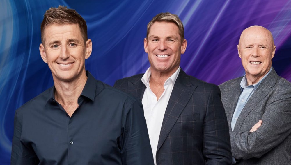 Mark Howard, Shane Warne and Kerry O'Keefe  images - Fox Sports