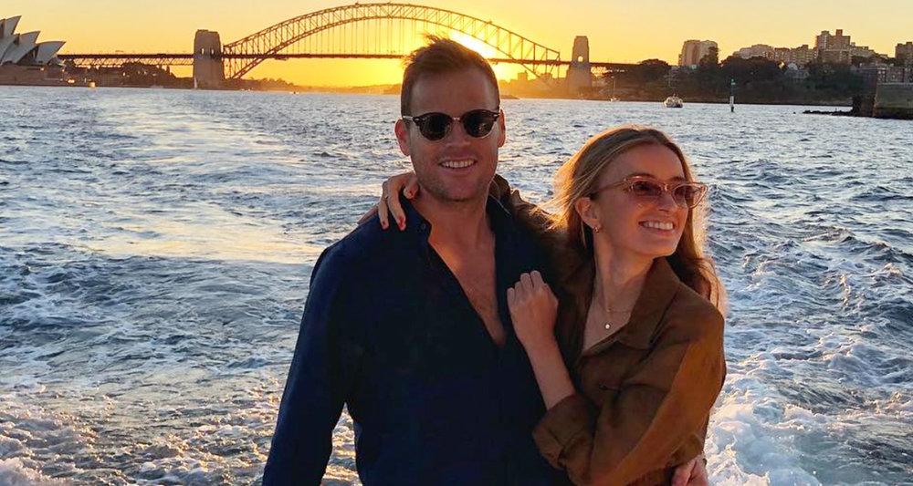 Tom Steinfort & fiancé Claudia Jukic   PHOTO: Instagram