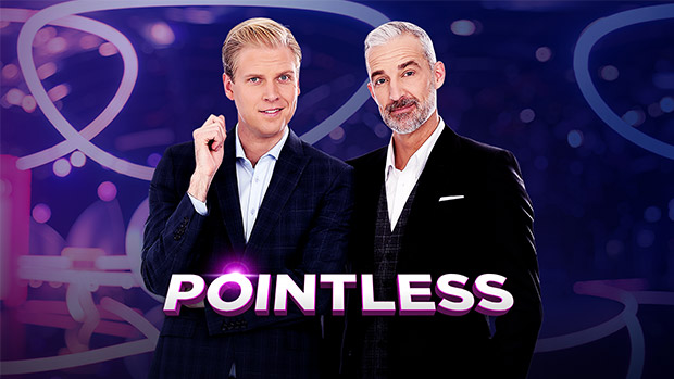 Mark Humphries & Andrew Rochford were the hosts of  Pointless    PHOTO: 10