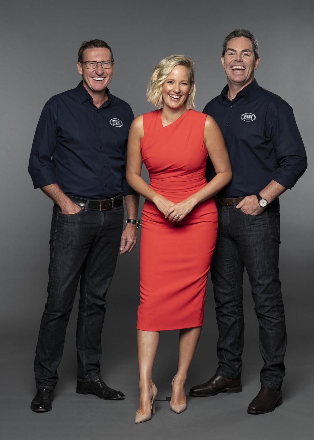 Mark Skaife, Jess Yates and Craig Lowndes  images - Fox Sports