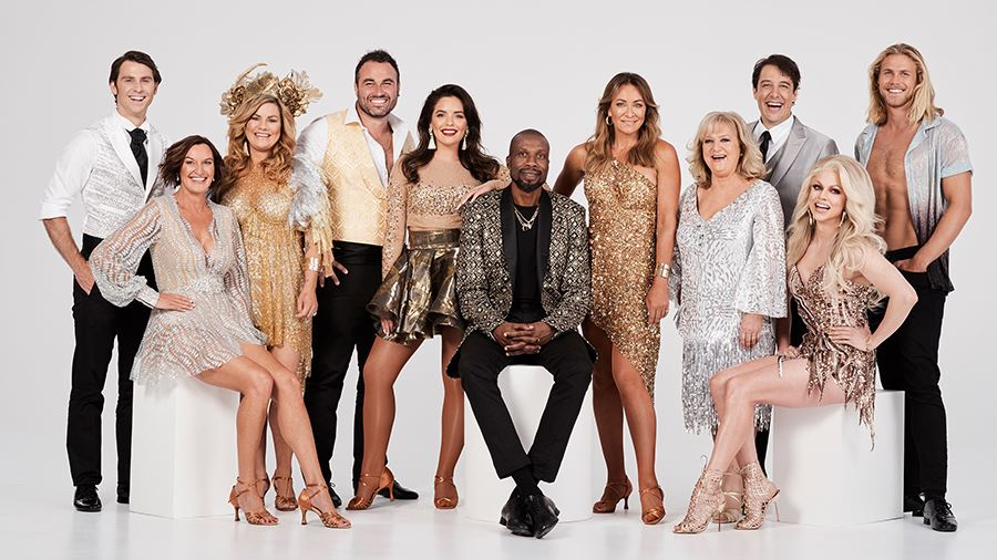 The cast of 10's  Dancing With The Stars