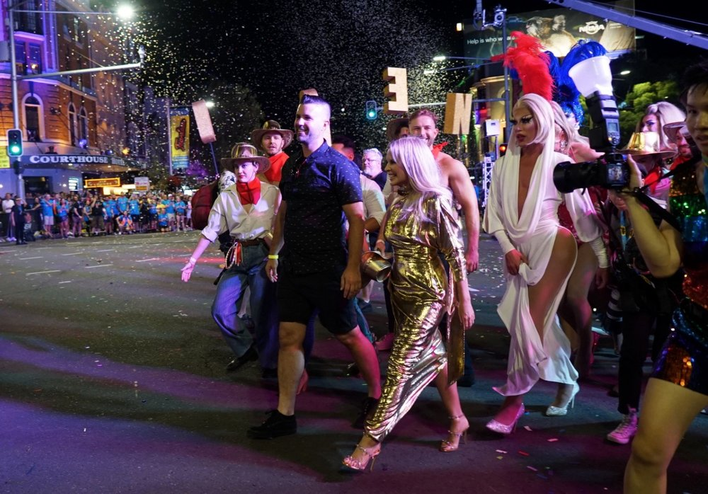Kylie Minogue participates in the 2019 parade  image - SBS