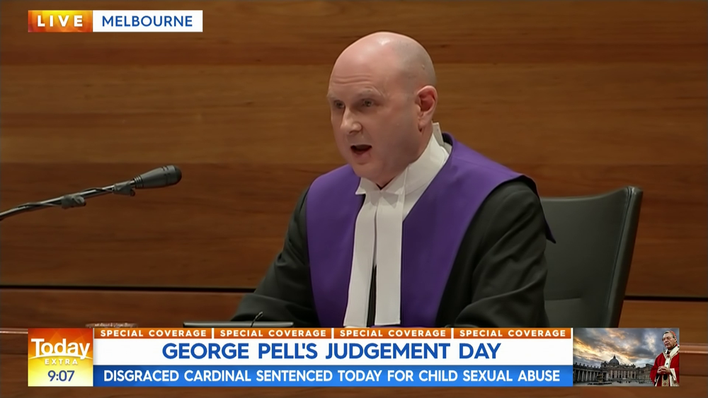 Chief Judge Peter Kidd on Channel 9's coverage