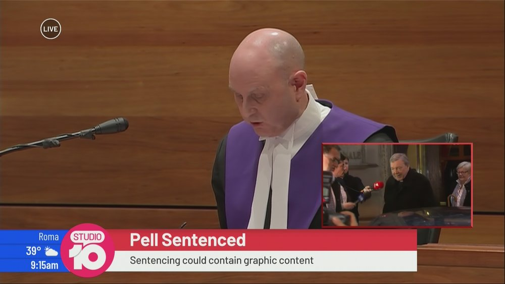 """""""I reckon that box would look better on the left so it looks like the judge is looking at it"""" says a producer… probably"""