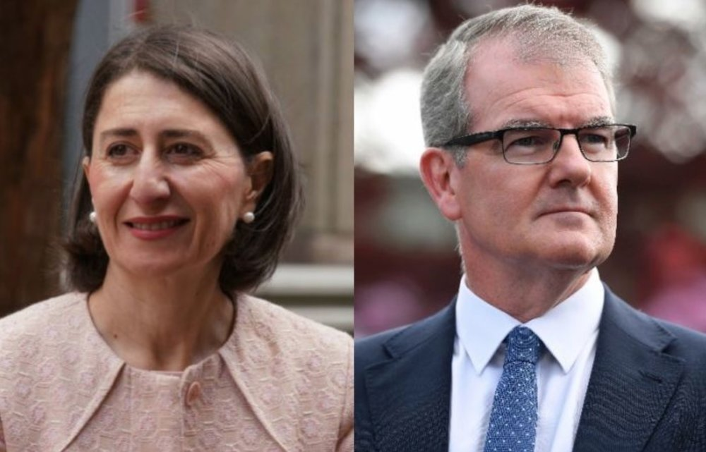 Gladys Berejiklian and Michael Daley  images - ABC and The New Daily