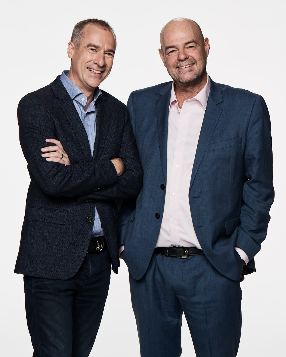 Gerard Whateley and Mark 'Robbo' Robinson  images - Fox Footy