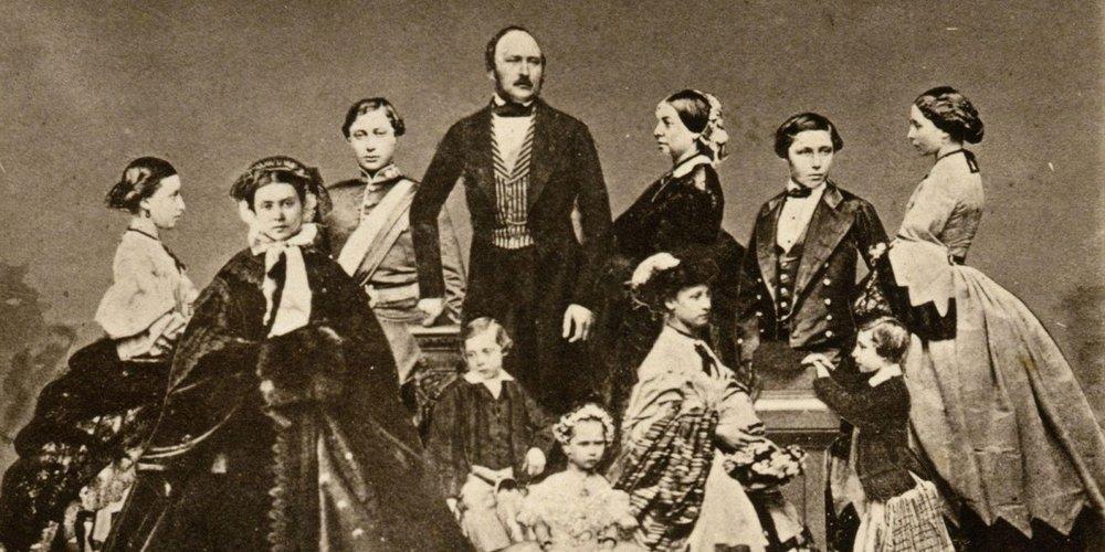 Queen Victoria and Her Nine Children  Source: WTTW