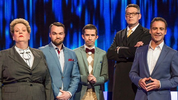 The cast of The Chase featuring the very tall Matt Parkinson  image - SEVEN