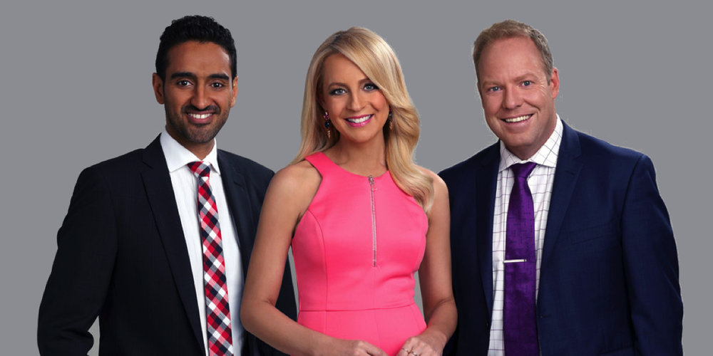 Waleed Aly, Carrie Bickmore & Peter Helier host THE PROJECT   PHOTO: 10