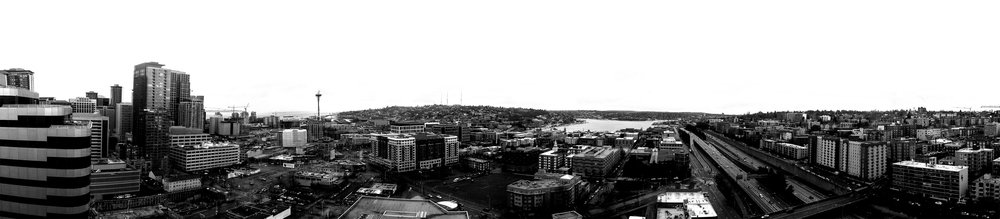January 12th - Decided to try and shoot a pano of Seattle, with my iPhone. Turned out pretty well, about 9  shots stitched together.