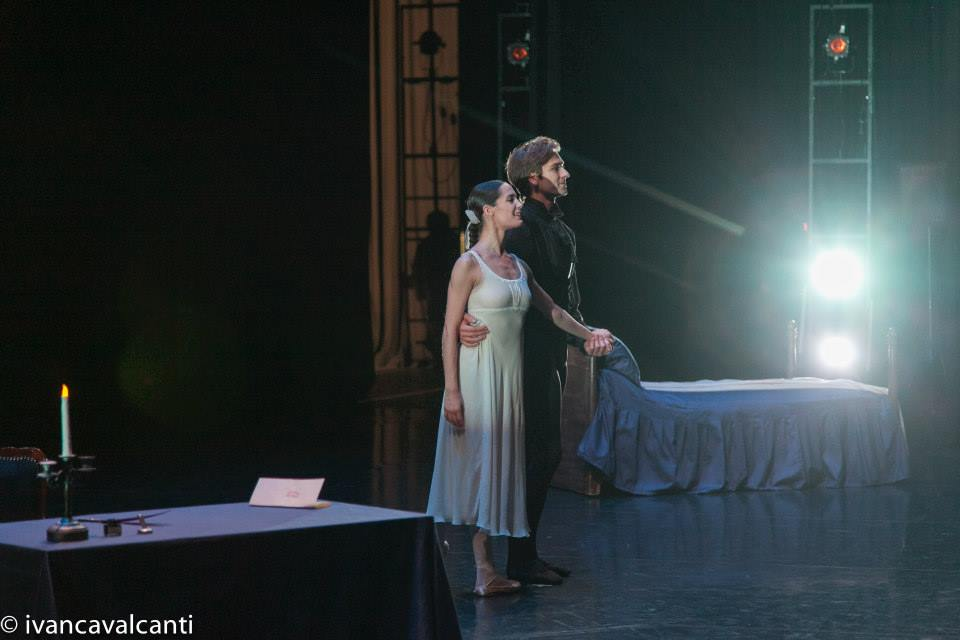 Friedemann Vogel and Amandine Albisson after Onegin pas de 2 (c) Ivan Cavalcanti