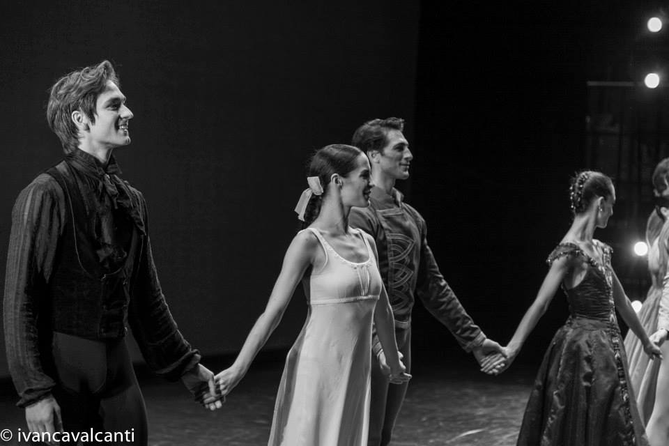 Friedemann Vogel, Amandine Albisson and Mathieu Ganio during the bows (c) Ivan Cavalcanti