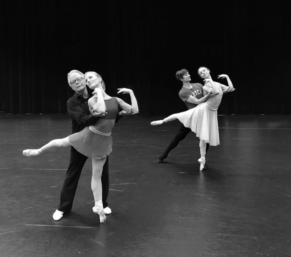 Sir Anthony Dowell, Katelyn May, Friedemann Vogel, Victoria Hulland (c) Sarasota Ballet