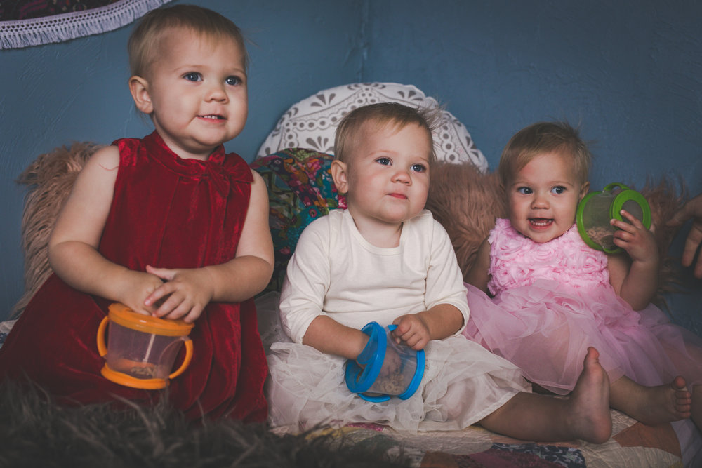 identical triplets - daytona beach family photographer