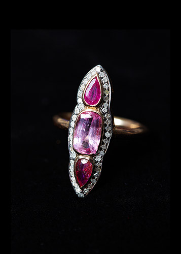 Pink-Spinel-Diamond-and-Ruby-RIng-0.25ct-White-Diamond-Surround-5.7g-18ct-Rose-Gold.jpg