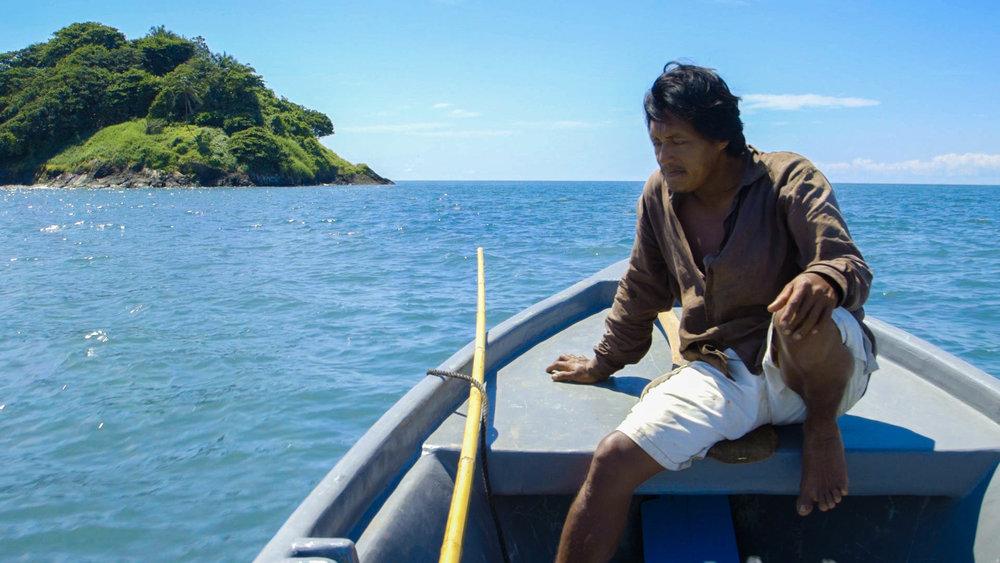 Pope, heading to Booby Cay, Bangkukuk, Nicaragua