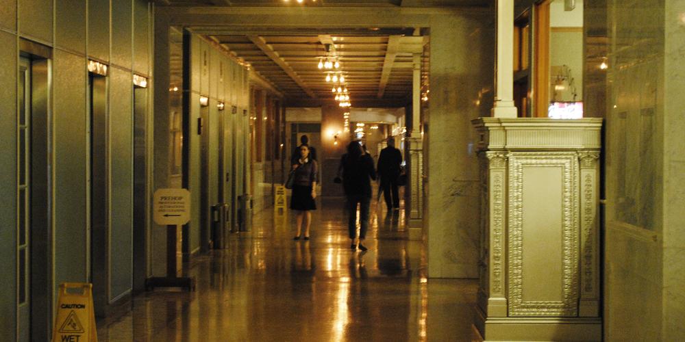 the interior alley, Monadnock Building