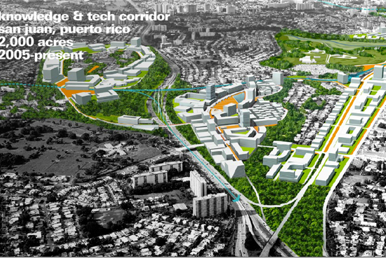 Field Operation's 2005 Proposal for Knowledge & Tech Corridor in San Juan, PR Photo Credits: Taken from http:www.fieldoperations.net