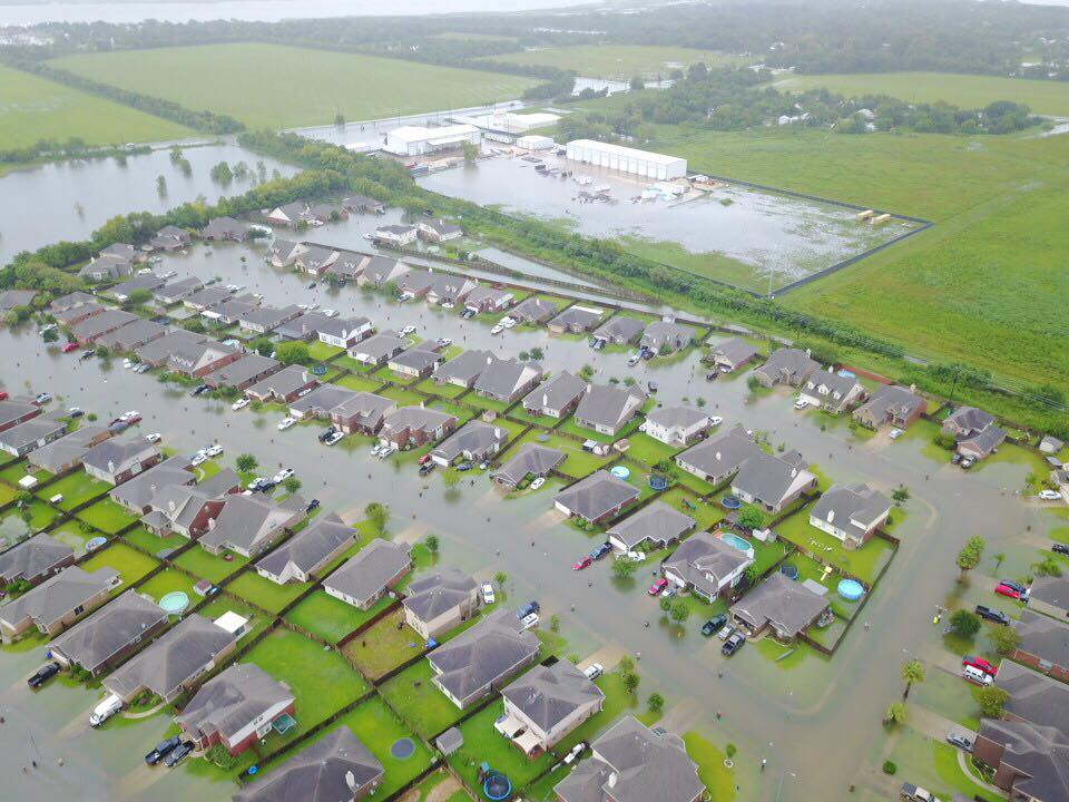 This is my neighborhood located in Cove, Texas (near Baytown, TX). Luckily our home did not flood but several down the street from mine were not as fortunate. Image by: Jeffery Griffis