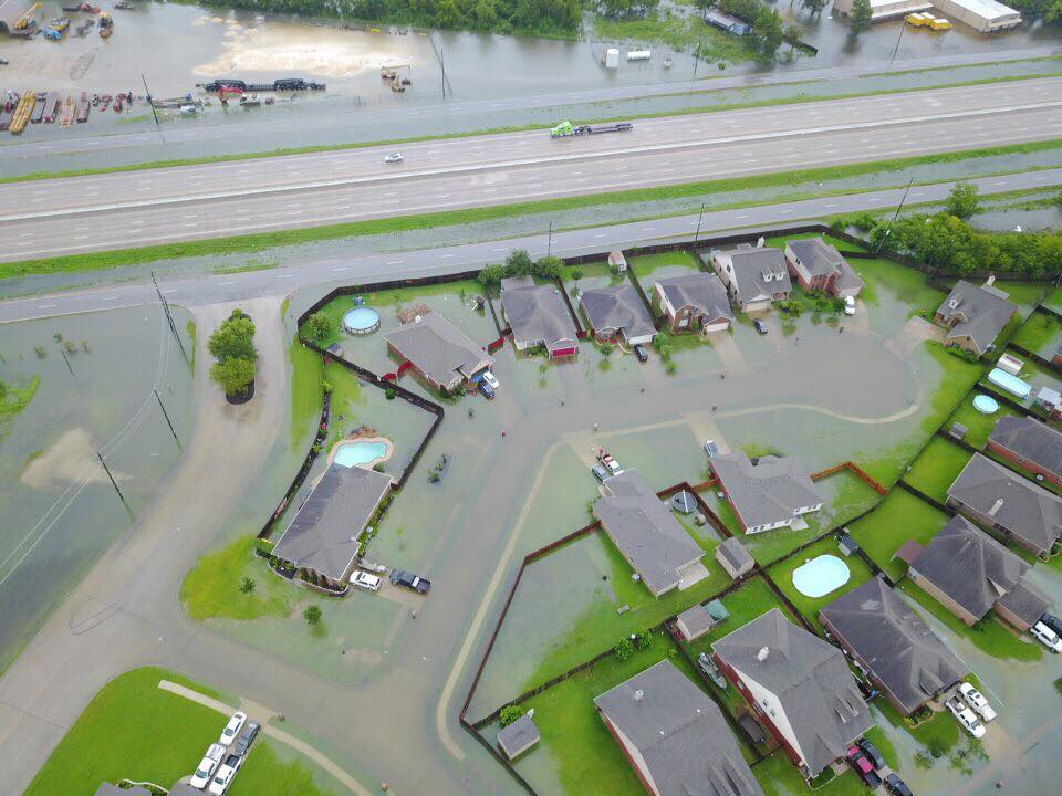 The front entrance of my neighborhood in Cove, TX (near Baytown, TX). Image by: Jeffery Griffis