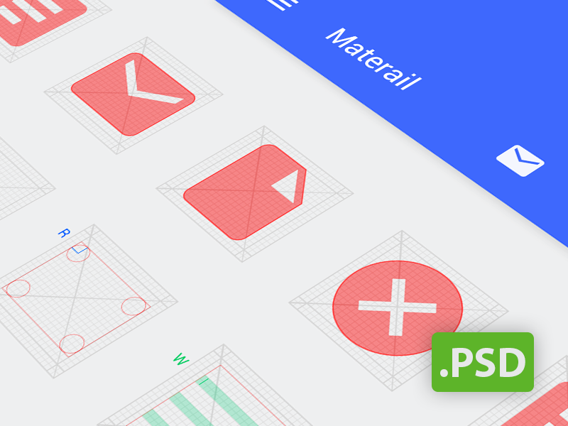 Android Grid Psd (Template for Android L icon)