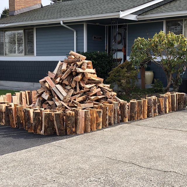 I've received so many messages recently from people wishing they could increase the amount of hard, compensation fee, manual labor they do each day. I feel compelled to offer up an opportunity.  Our baby girl is sick and keeping us indoors. Anyone in the Seattle Area want to take a stab at stacking just under a cord of seasoned firewood?