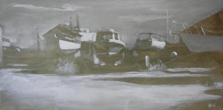 Boatyard Shadows by Alan Bull